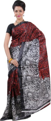 Keya Sarees Printed Ikkat Art Silk Sari