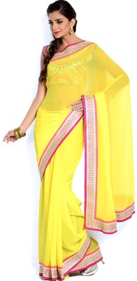 Velli Self Design Bollywood Chiffon Sari