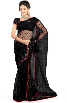 Nine Sister Self Design Fashion Georgette Sari