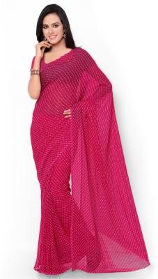 Vogue Era Printed Bandhani Georgette Sari