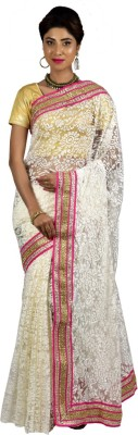 Manisha Designer Self Design Fashion Brasso, Net Sari