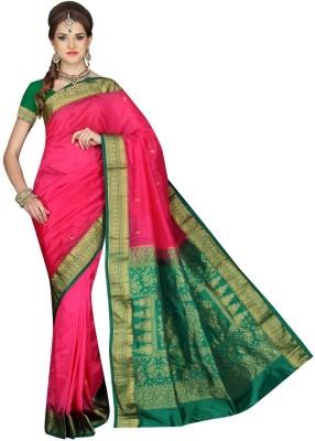 Mahila Silks Woven Paithani Art Silk Sari