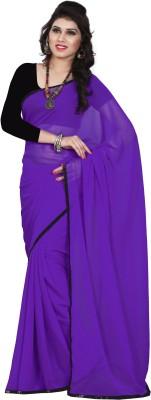 Ashvin Solid Bollywood Georgette Sari