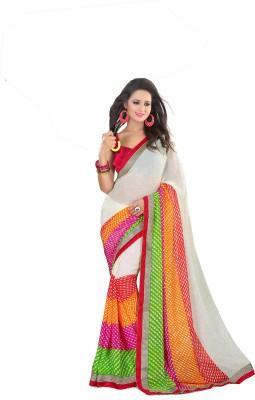 Esaree Printed Bandhani Georgette Sari