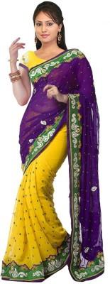 Om Sai Laxmi Creation Embellished Bollywood Georgette Sari