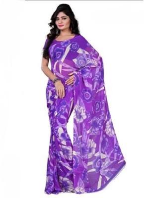 VK FASHION Printed Fashion Georgette Sari