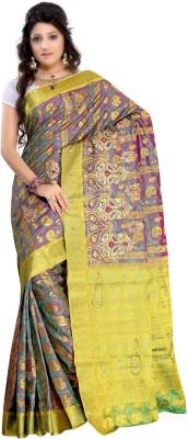 Alankrita Self Design, Woven Kanjivaram Art Silk, Jacquard, Silk Sari