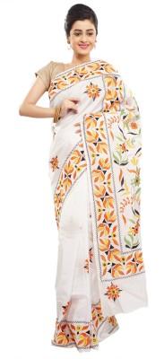 Babins Boutique Self Design Hand Batik Khadi, Silk Sari