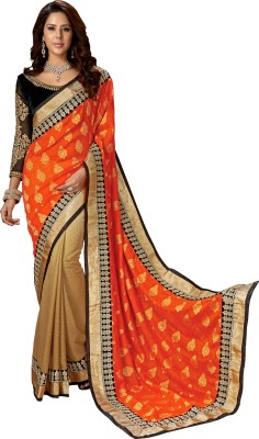 S J Trendz Embriodered Fashion Georgette Sari