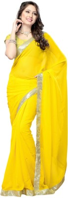 Fidubi Plain Fashion Georgette Sari