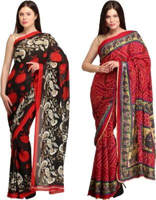 Skyline Trading Self Design Daily Wear Georgette, Crepe Sari
