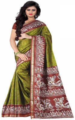 SGM Printed Fashion Silk Saree(Multicolor) at flipkart