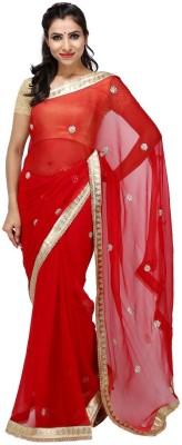 KALYANAM Floral Print Maheshwari Chiffon Sari