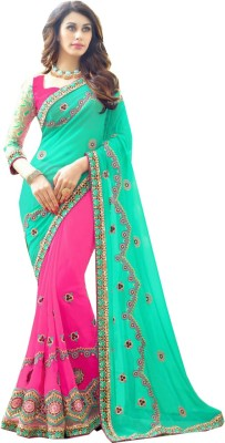 Krishna Fab Embriodered Bollywood Chiffon Sari