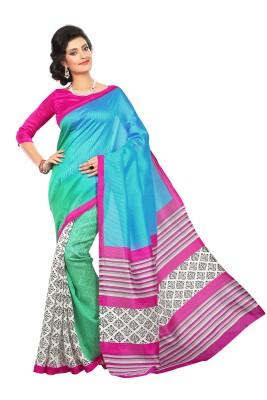 Cutie Pie Printed Bhagalpuri Art Silk Sari