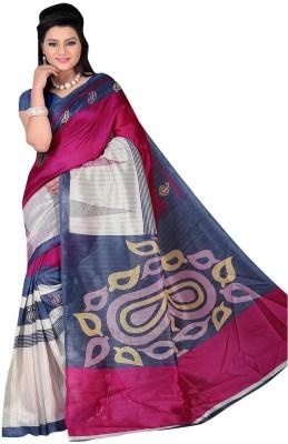Pooja Fashions Printed Bhagalpuri Crepe Sari