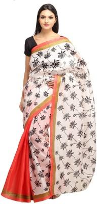 Lime Fashion Printed Bhagalpuri Handloom Art Silk Sari