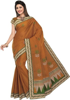 Meena Prints Printed, Embriodered Daily Wear Cotton Sari