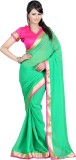 Bunny Sarees Solid Fashion Georgette Sar...