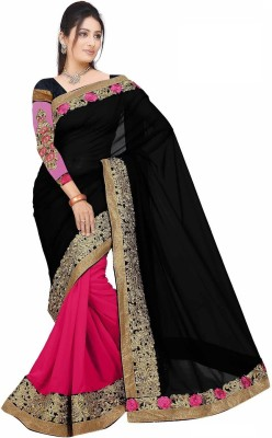 Spangel Fashion Self Design Bollywood Georgette Sari