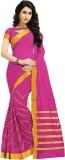 Jannat Solid Fashion Cotton Saree (Pink,...