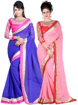 Amar Enterprise Embriodered Daily Wear Chiffon Sari