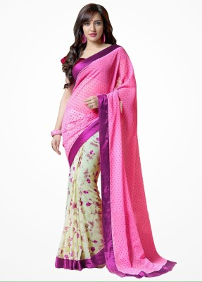 Saiyaara Fashion Printed Fashion Georgette Sari