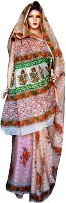 Sprint Textiler & Manufacturer Floral Print Phulkari Cotton Sari