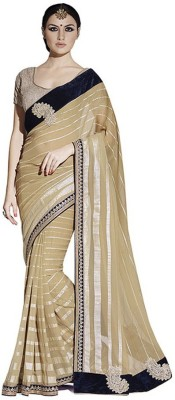 ASHISH Solid Fashion Georgette Sari