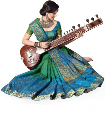 Katonline Woven Fashion Jacquard Sari
