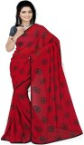 Pawan Tex Printed Fashion Satin Saree (R...