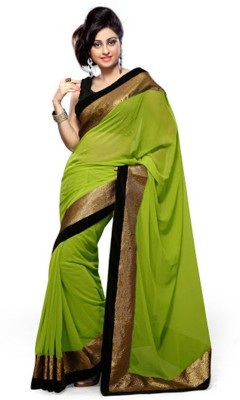 CoreFestival Printed Fashion Synthetic Chiffon Sari