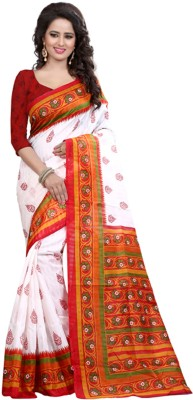 FabPandora Printed Bhagalpuri Silk Sari