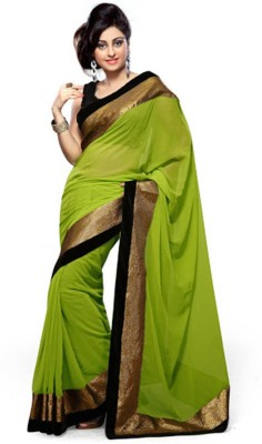 Awesome Fab Plain Fashion Georgette Sari