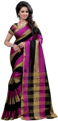 Arya Fashion Solid Chanderi Polycotton Sari