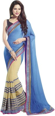 EthnicBasket Self Design Fashion Georgette Sari