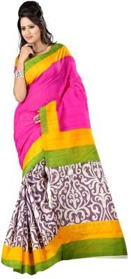 Ayushi Saree Printed Bhagalpuri Silk Sari available at Flipkart for Rs.349