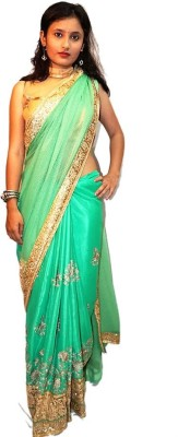 fille avis Embriodered Bollywood Lace, Net Sari