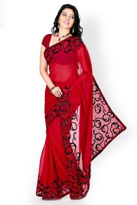 Temptingg Fashions Embriodered Fashion Georgette Sari