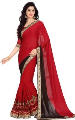 Zbuy Embriodered Daily Wear Handloom Jacquard Sari