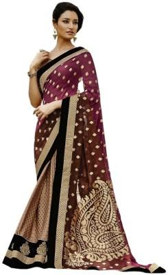 SareeStudio Floral Print Banarasi Jacquard Sari