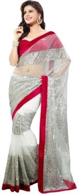 Click India Self Design Bollywood Net Sari