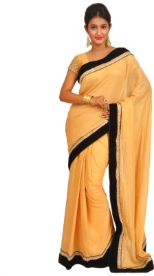 Anamika Collection Self Design Fashion Handloom Shimmer Fabric Sari