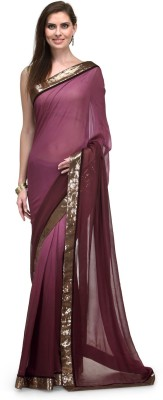 Indian Dobby Solid Bollywood Georgette Sari