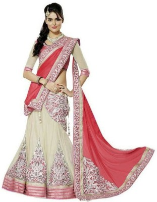 Aaradhya Shop Embriodered Lehenga Saree Net Sari