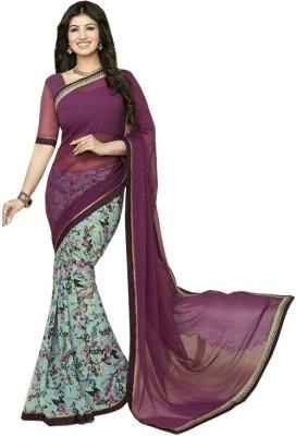 Radhe Fashion Printed Fashion Georgette Sari
