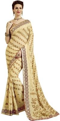 Rajhans Fashion Embellished Fashion Jacquard Sari
