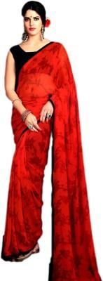 Ganghs Floral Print Bollywood Georgette Sari