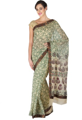 Craftghar Printed Banarasi Cotton Sari