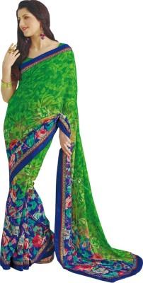 Radhika Sarees Floral Print Fashion Georgette Sari